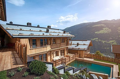 The HochLeger Chalets are constructed from wood harvested at the waning moon.
