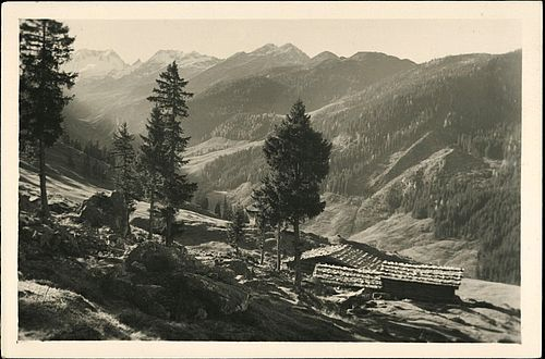 Kreidschlag-Alm in Gerlos around 1941, Source: AKON/Austrian National Library