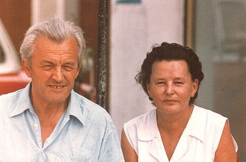 "Hans und Theresia, Christina's grandparents, owners of the ""Alte Post""."